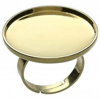 Prsten ROCKS kruh 25mm Pozlacený