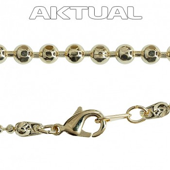 Chain BALL 1,2mm 48cm Gold Plated