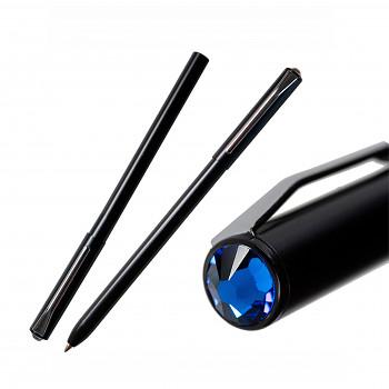Kuličkové pero PEN s magnetickým uzávěrem BLACK CAPRI BLUE SWAROVSKI ELEMENTS