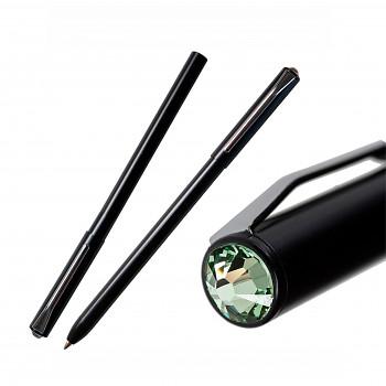 Kuličkové pero PEN s magnetickým uzávěrem BLACK CHRYSOLITE SWAROVSKI ELEMENTS