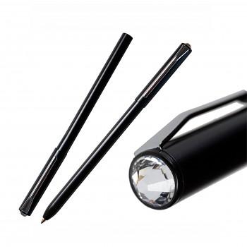 Kuličkové pero PEN s magnetickým uzávěrem BLACK CRYSTAL SWAROVSKI ELEMENTS