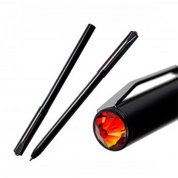 Kuličkové pero PEN s magnetickým uzávěrem BLACK FIREOPAL SWAROVSKI ELEMENTS