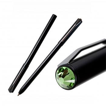 Kuličkové pero PEN s magnetickým uzávěrem BLACK PERIDOT SWAROVSKI ELEMENTS