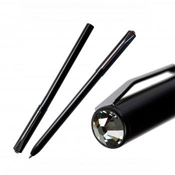 Kuličkové pero PEN s magnetickým uzávěrem BLACK SILVER NIGHT SWAROVSKI ELEMENTS