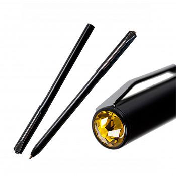 Kuličkové pero PEN s magnetickým uzávěrem BLACK SUNFLOWER SWAROVSKI ELEMENTS