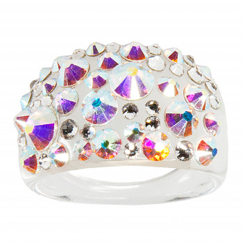 Prsten BUBBLE 53mm CRYSTAL AB SWAROVSKI ELEMENTS