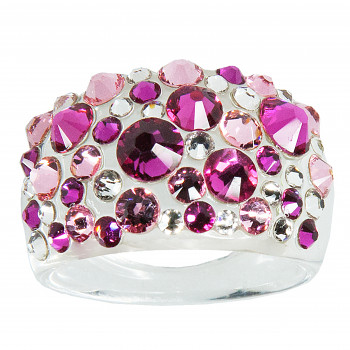 Prsten BUBBLE 53mm FUCHSIA SWAROVSKI ELEMENTS