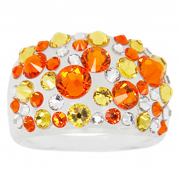 Prsten BUBBLE 53mm SUN SWAROVSKI ELEMENTS