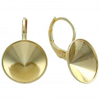 Náušnice klapka DENTELLE 13mm (ss55) pozlacené