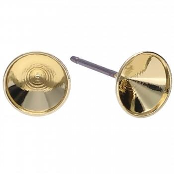 Náušnice puzeta CHATON s39-8mm Pozlacená