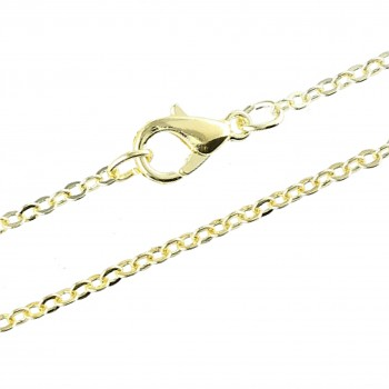 Chain FLAT-1,5mm 45cm Gold Plated