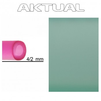 Dutinka RUBBER 4/2mm CHRYSOLITE