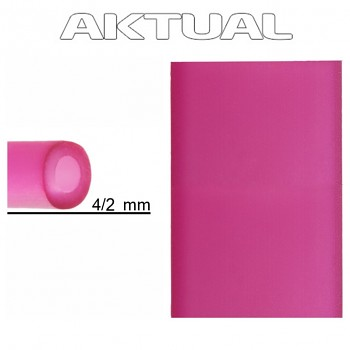 Dutinka RUBBER 4/2mm FUCHSIA