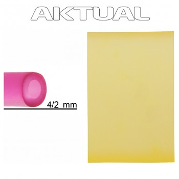 Dutinka RUBBER 4/2mm LIGHT TOPAZ