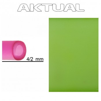 Dutinka RUBBER 4/2mm PERIDOT