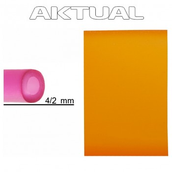 Dutinka RUBBER 4/2mm SUN (orange)