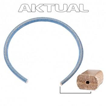 LEATHER pásek 10x7mm modrá Ocelová