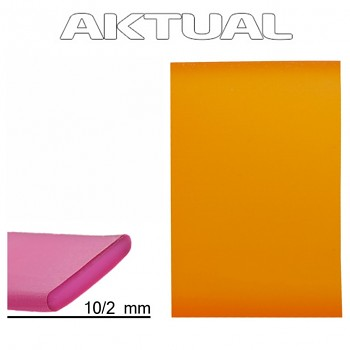 Pásek RUBBER 10mm SUN (orange)