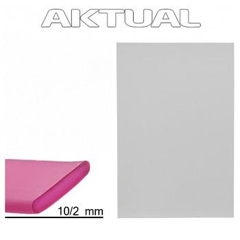 Pásek RUBBER 10mm WHITE