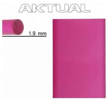 Šňůrka RUBBER 1.9mm FUCHSIA