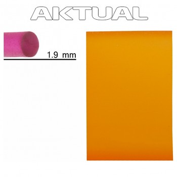 Šňůrka RUBBER 1.9mm SUN (orange)