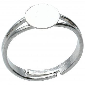 Prsten ploška  8mm Rhodiovaný