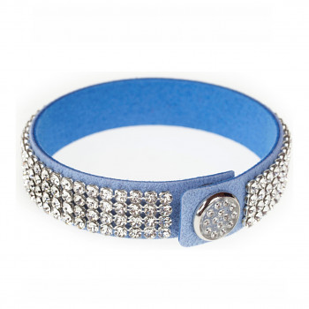 dazzleCRYSTALS náramek BLUE CRYSTAL SWAROVSKI ELEMENTS - délku přizpůsobíme Vaší objednávce