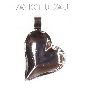 Přívěsek SWEET HEART/Left T13mm Rhodiovaný s trubičkou (1x 4810)