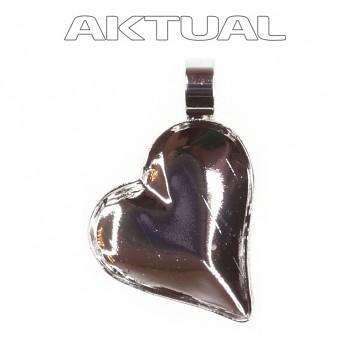 Přívěsek SWEET HEART/Right T13mm Rhodiovaný s trubičkou (1x 4809)