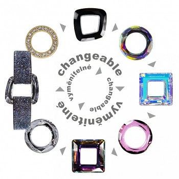 Náramek STARDUST CHANGEABLE Swarovski Elements - vyměnitelný - cena bez kamene Swarovski Elements