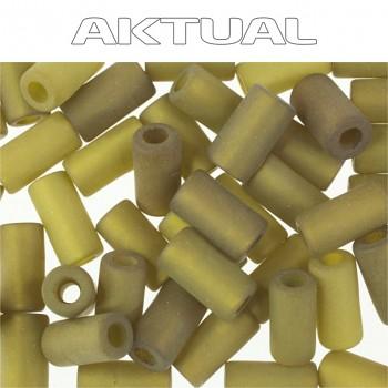 Korálek VELVET cylinder 4x8 OLIVINE