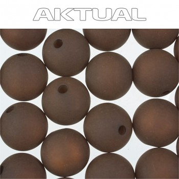 Korálek VELVET bead  6mm BROWN