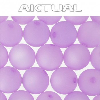 Korálek VELVET bead  6mm LIGHT AMETHYST