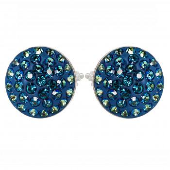 Náušnice sparkly RIVOLI PU10 BERMUDA BLUE Ag925