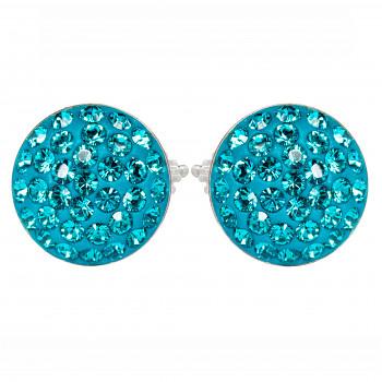 Náušnice sparkly RIVOLI PU10 BLUE ZIRCON Ag925