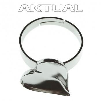 Prsten SWEET HEART 13mm Rhodiovaný