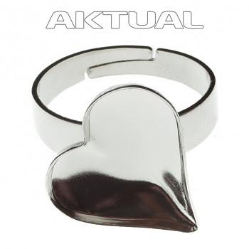 Prsten SWEET HEART 17mm Rhodiovaný