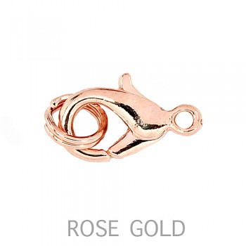 Karabinka  8mm+2kroužek ROSE GOLD