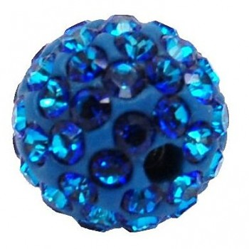 sparkly BEAD  6mm BERMUDA BLUE