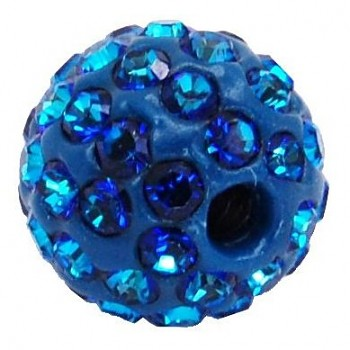 sparkly BEAD  8mm/1.8 BERMUDA BLUE