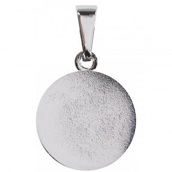 Přívěsek ploška17mm Rhodium